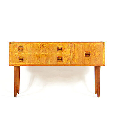 Retro Vintage Danish Modern Teak Hall Stand Console Table Cabinet Sideboard 60s
