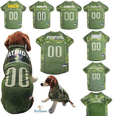 1ffecebba3b NFL Fan Gear Game CAMO CAMOUFLAGE Army Dog Jersey Shirt for Dogs-PICK YOUR  TEAM