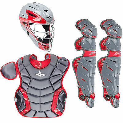 All Star System 7 Pro Camo Youth Baseball Catcher's Set (9-12Yrs ) Graphite/Scar