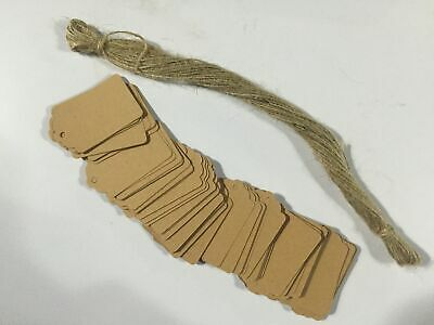 100 Pcs Kraft Brown Paper Jewelry Label Tag Price Mark Size Big/Small Handtags