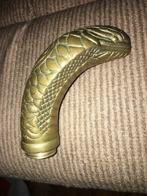 Brass Cobra Snake Head Walking Stick Cane Handle