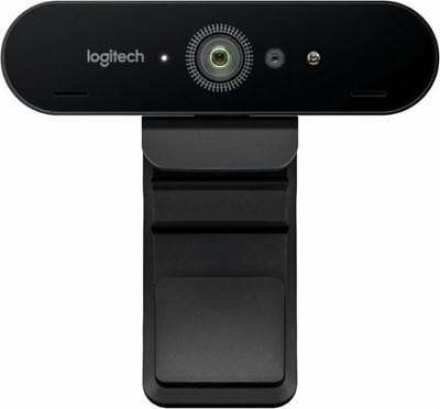 N Logitech 4K Ultra HD Pro Webcam 5x Zoom for PC Mac Video Conferencing