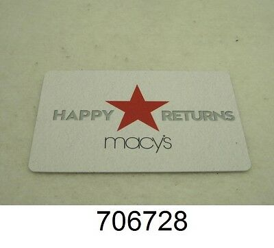 Macy's Gift Card - Store Credit with a balance of $89.06 *Mail Delivery*