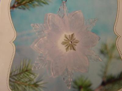 2010 HALLMARK WONDER & LIGHT SHIMMERING SNOWFLAKE CHRISTMAS ORNAMENT magic cord