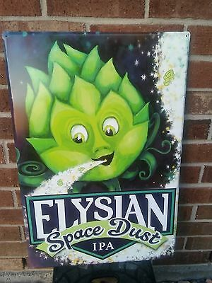 "Elysian Space Dust Embossed Tin Tacker Craft Beer Sign..24"" by 16""  B/New"