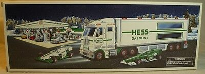 2003 Hess Toy Truck And Racecars ~ Nib Never Opened ~ Adult Collector