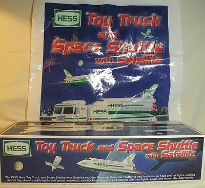 1999 Hess Truck W/ Space Shuttle & Satellite ~ Includes Bag ~Nib Adult Collector