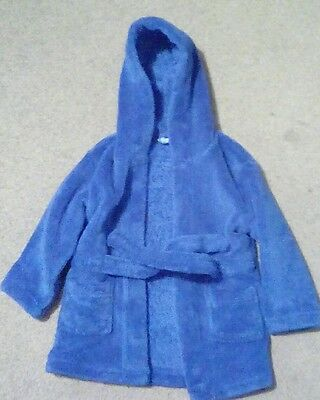 Early days baby boys blue dressing gown age 6-12 months excellent condition