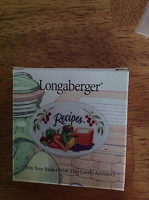 Longaberger Recipes Basket Tie-On