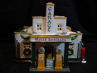 Dept 56 Original Snow Village Holly Brothers Garage  Retired With Original Box