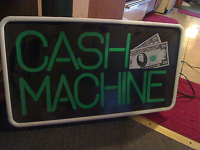 cash machine lighted sign