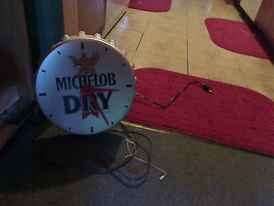 vintage michelob dry beer lighted clock