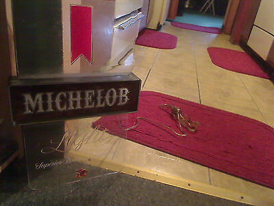 vintage michelob light beer lighted sign