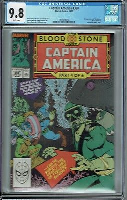 Cgc 9.8 Captain America #360 White Pages 1St Appearance Of Crossbones
