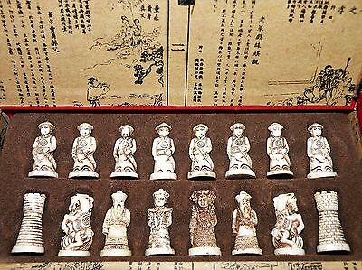 Precious Handcrafted Japanese Antique Folk Art Exquisite Royal Warriors Chess ST