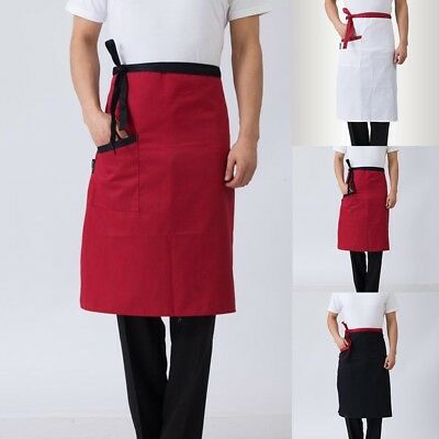 Chef Apron Kitchen Restaurant Hotel Cook Half Body Apron Pocket Cookery Workwear