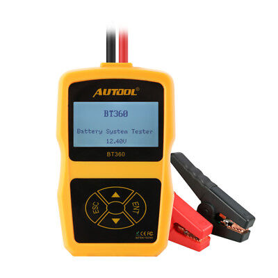 AUTOOL BT-360 12V Vehicle Battery System Tester Cranking Test Charging Tester