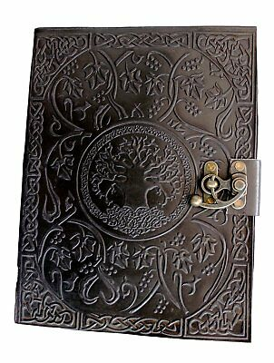 Buffalo Leather Large Vintage Look Diary Planner Locking Notebook Lock Journal