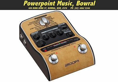 Zoom AC-2 Acoustic Creator Pre-Amp DI Pedal - Brand New - Full Warranty