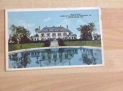 Postcard Showing Home Of Clement Studebaker, Jr.