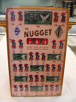 Vintage 1937 Bally Nugget 5 Cent Coin Op Trade Stimulator Slot Machine Antique
