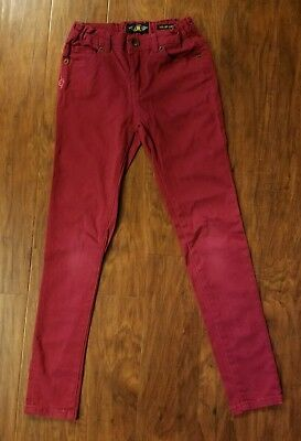 Lucky Brand Zoe jeggings jeans leghings girls size 10 dark red
