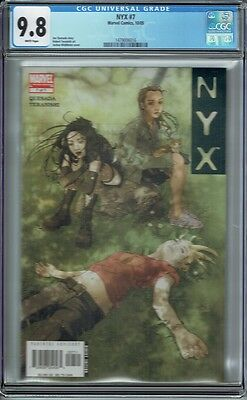 Cgc 9.8 Nyx #7 White Pages Early Appearance X-23
