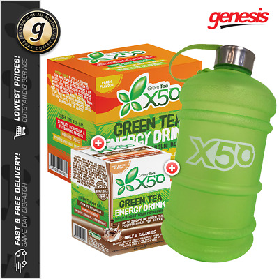 Tribeca Health X50 Green Tea *60 Srv* + X50 Iced Coffee *30 Srv* + FREE Gift!