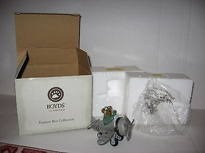 Boyds Bears Nib Percy's Airplane With Wings Mcbibble Treasure Box Collection
