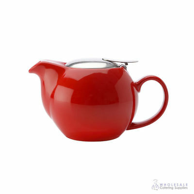 12x Teapot 350mL Red Maxwell & Williams Cafe Culture Pot Brew Tea Leaves Infuser