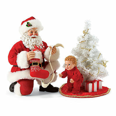 Dept 56 Possible Dreams Baby's First Tree Santa 2 Piece Set 4057130 new 2017