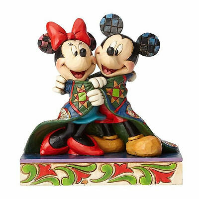 Jim Shore Disney Warm Wishes Mickey Mouse and Minnie Wrapped in Quilt 4057937