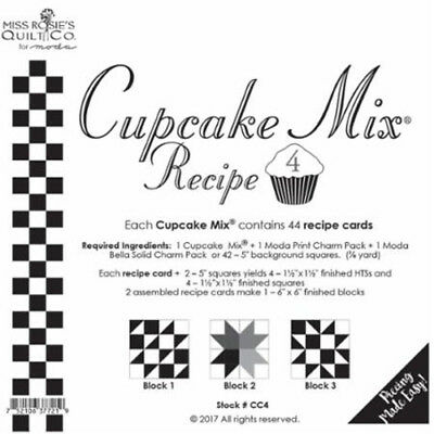 Quilting Sewing Quilt Pattern MODA CUPCAKE MIX 4 Preprinted Cheats for Patchw...