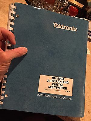 GENUINE TEKTRONIX DM502A INSTRUCTION MANUAL DIGITAL MULTIMETER 150 pages?