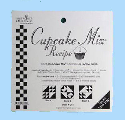 Quilting Sewing Quilt Pattern MODA CUPCAKE MIX 1 Preprinted Cheats for Patchw...