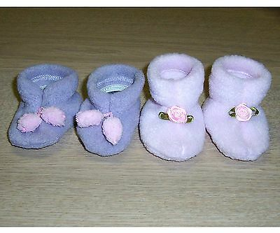 "DOLLS SHOES / SLIPPERS BABY ALIVE - 2 Pr Foot 7cm / 2.75"" Large CLOTHES - Reborn"