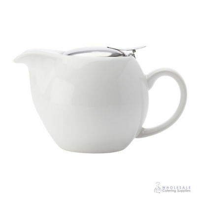 Teapot 500mL White Maxwell & Williams Cafe Culture Pot Brew Tea Leaf Infuser