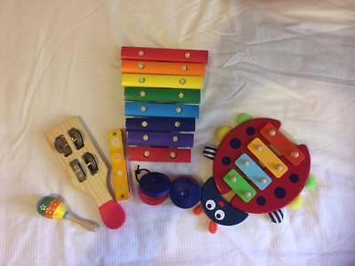 Kids wooden instrument selection