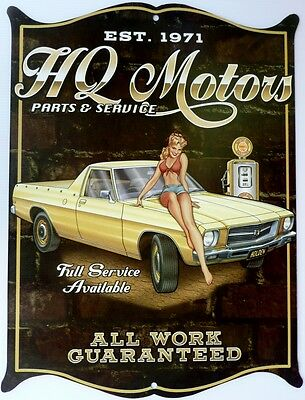HOLDEN HQ MOTORS Parts & Service  . All Weather Aged look Metal Sign 475x360