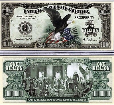 Black Eagle w/Color Billion Dollar Novelty Money