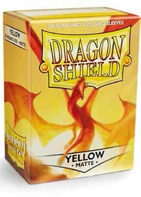 Dragon Shield - Standard Size Matte Sleeves x 100 - Yellow