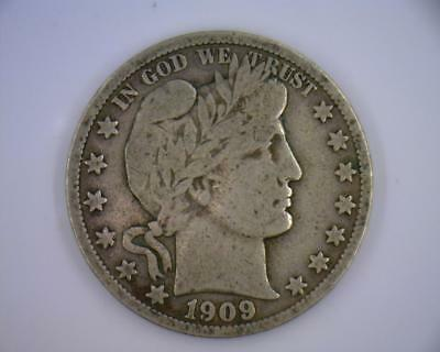 1909-S Silver 50 cents Barber Halves | Liberty Full Motto | FM  (RC2014)