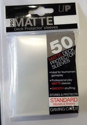 Ultra Pro Deck Protector Sleeves x50 - Pro Matte - Clear