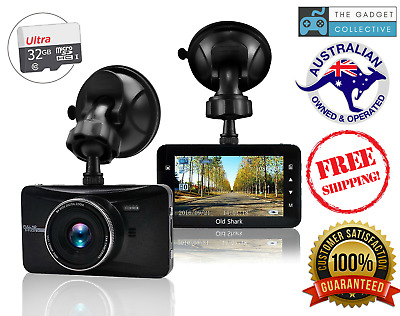 "OldShark 3"" 1080P Dash Cam w/ 32GB Card, 170 Wide Angle Car Night Vision Parking"
