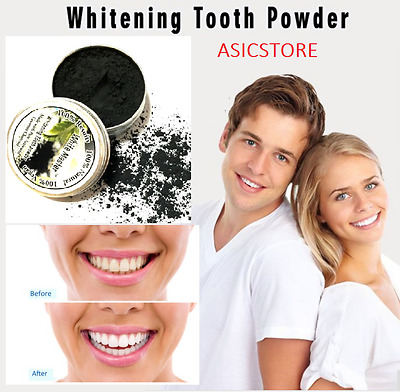 Coco Teeth Whitening Powder Black TOOTHPASTE Activated Charcoal Tooth Whitening