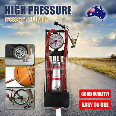 Bicycle Ball Motorbike Car Type Inflater Tire Air Pump High Pressure Foot Pump