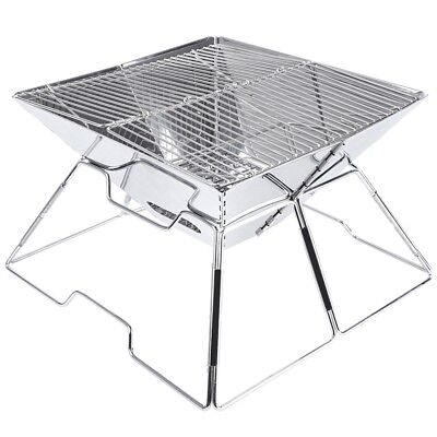Outdoor Stainless Steel Portable Folding Charcoal BBQ Grill Foldable