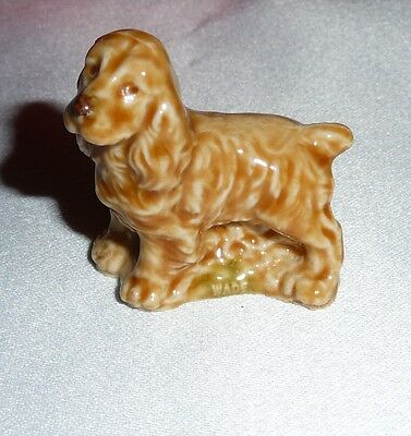 COCKER SPANIELS DOG CERAMIC FIGURINES 2 of Collectable Wade Sitting and standing
