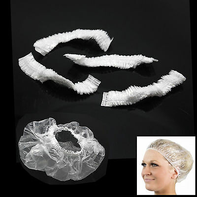 100 Pack Disposable Shower Caps Waterproof Polythene Hair Bath UK