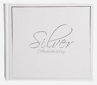 Signature Silver 25th Anniversary Wedding Book Photo Album